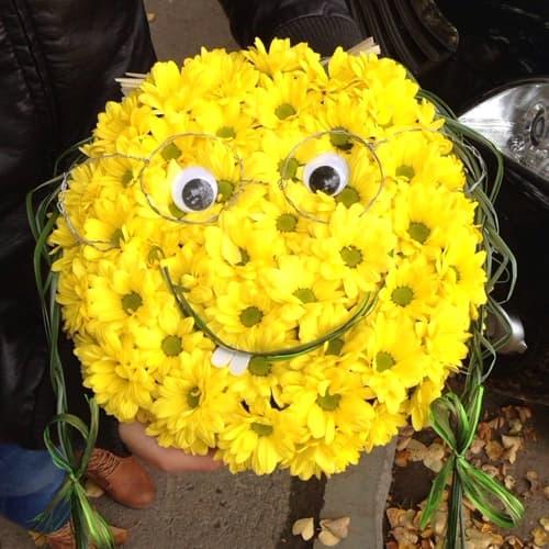 Цветочный смайлик :)