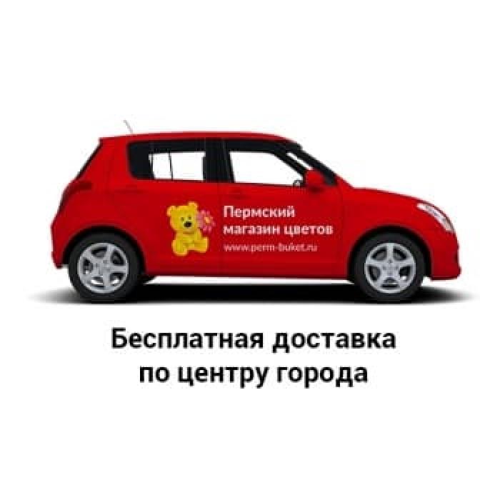 """Крафт-Букет из ирисов и эустом """"Вечерние грезы"""""""