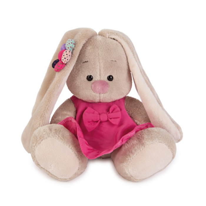 Зайка Ми в розовом сарафанчике с ромашкой на ушке 18 см  (Предзаказ)