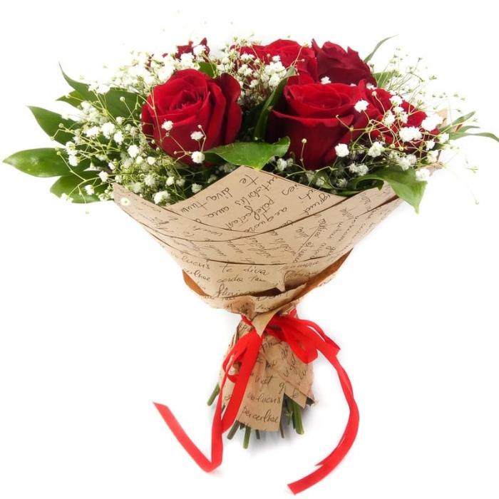 Прекрасное в красном из 7 красных роз