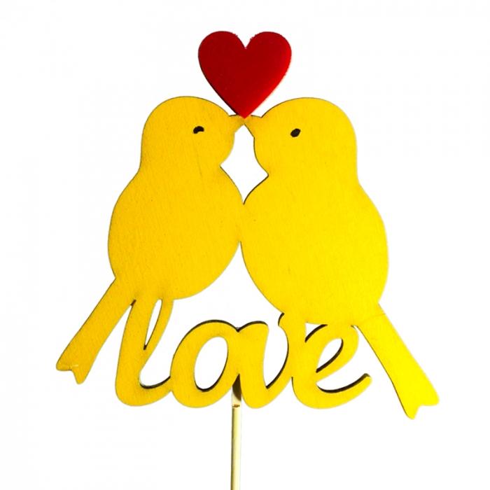"Топпер с птицами ""Love"""