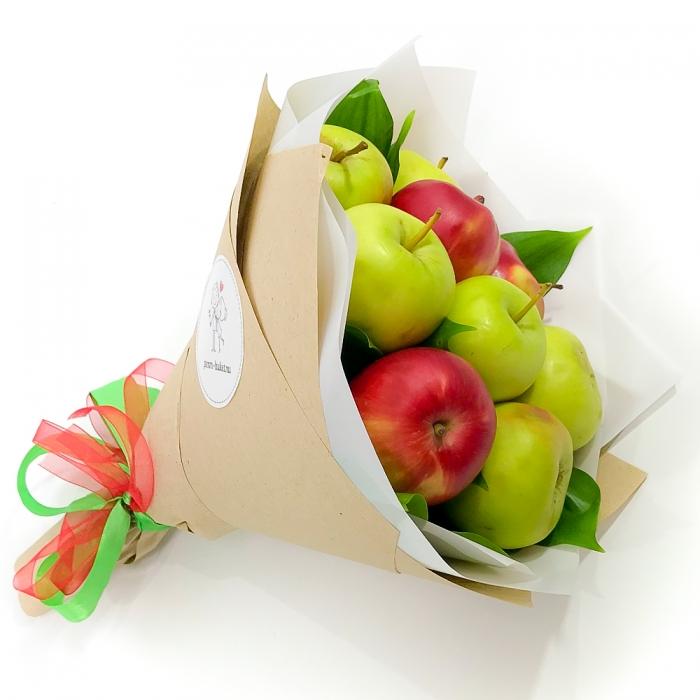 """Моно-букет из яблок """"Румяная заря"""""""