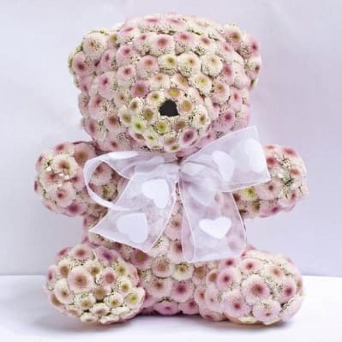 Розовый цветочный мишка (Предзаказ)