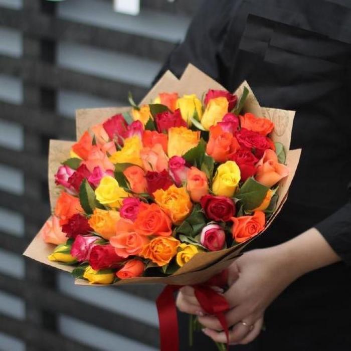 Букет из 35 кенийских роз