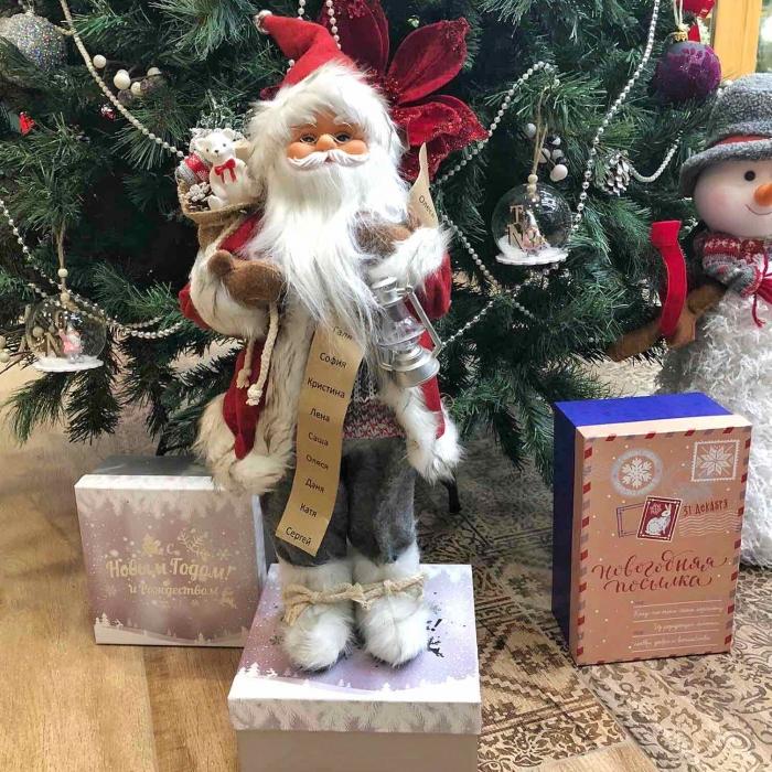 Новогодний сувенир Санта-Клаус с подарками