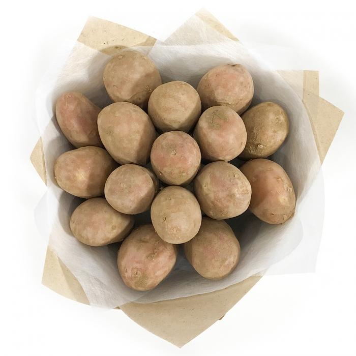"""Моно-букет из картофеля """"Осенняя роза"""""""