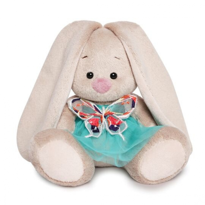 Зайка Ми в бирюзовой юбочке с бабочкой (малыш)