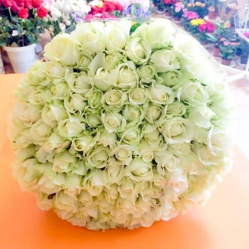Акция!!! 101 белая роза
