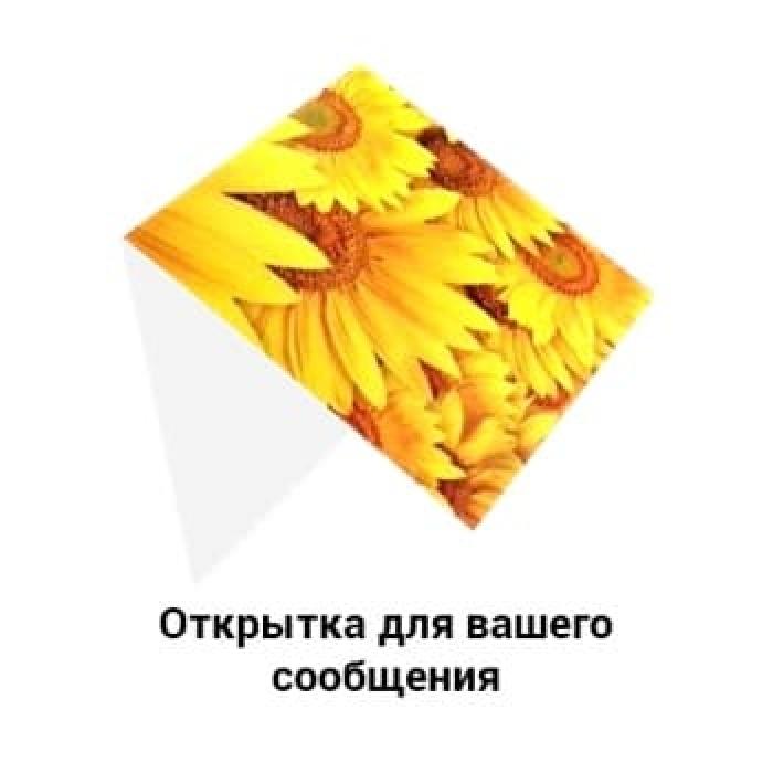 Букет из гербер в украшении с солидаго