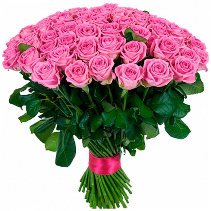 Букет из 59 розовых роз