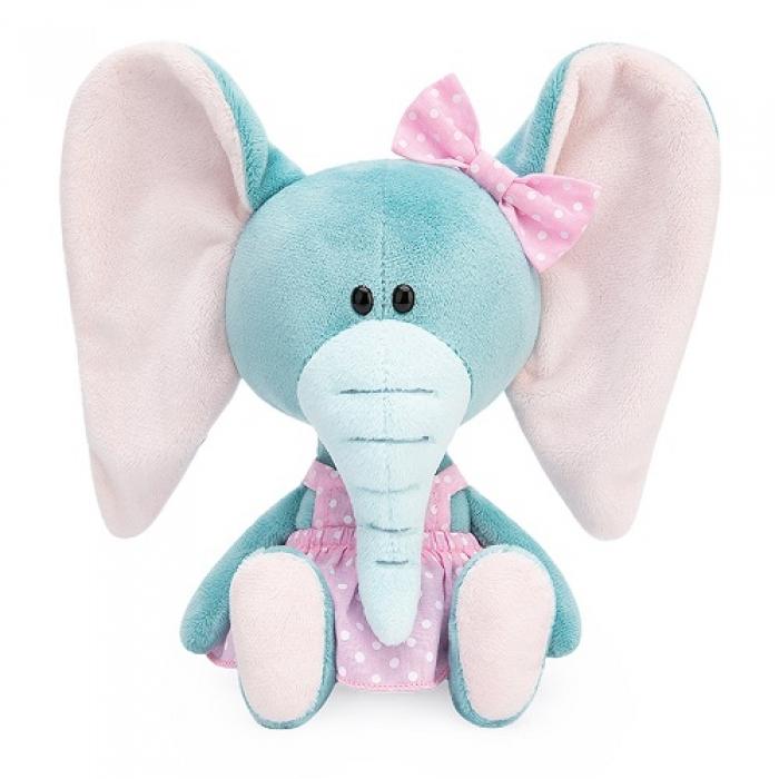 """Мягкая игрушка """"Слониха Симба в розовом сарафане"""""""