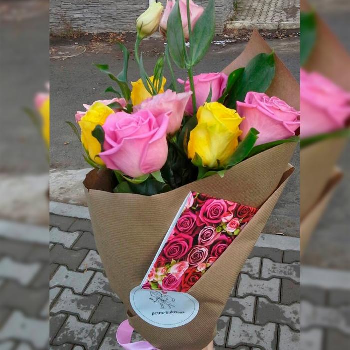 """Крафт-букет из роз """"Праздничный день"""""""