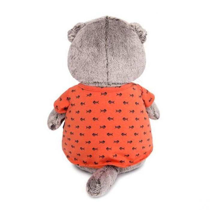 Кот Басик в оранжевой футболке