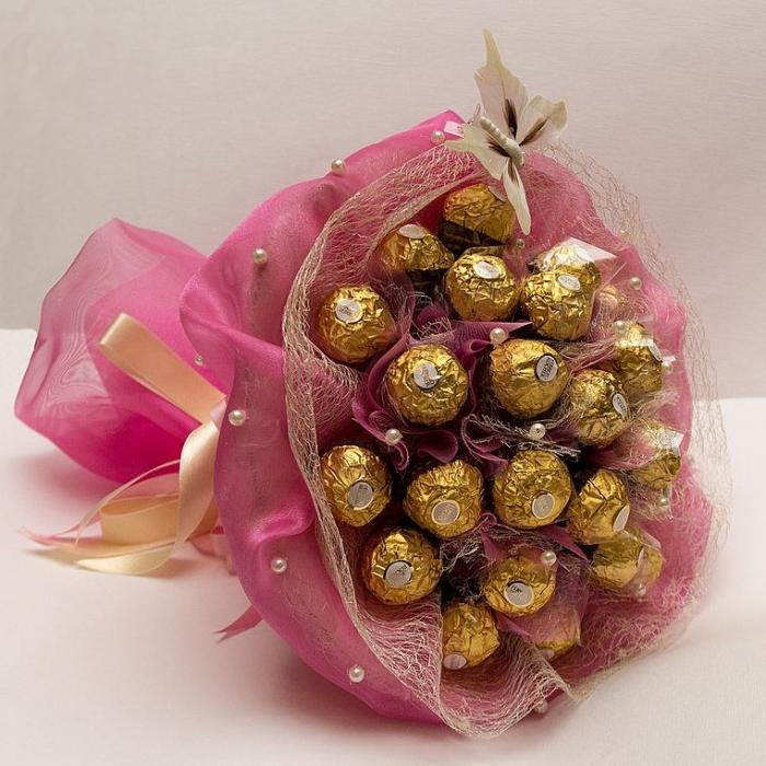 Букет из конфет «Золото Ферреро»