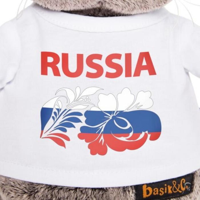Кот Басик в футболке Россия
