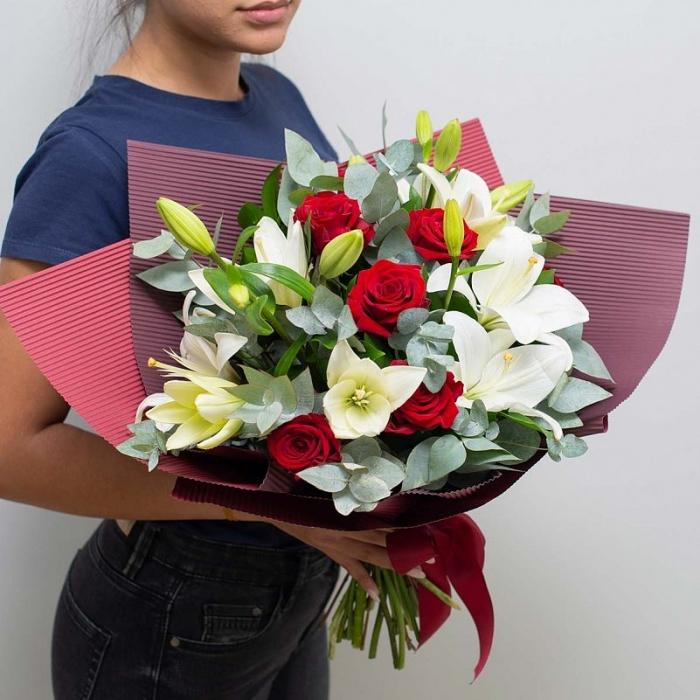 Букет Розы и Лилии
