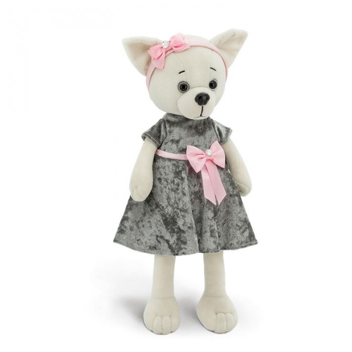 Собачка Lucky Doggi Lili благородный серый
