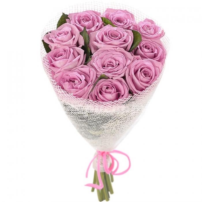 Букет из 11 фиолетовых роз