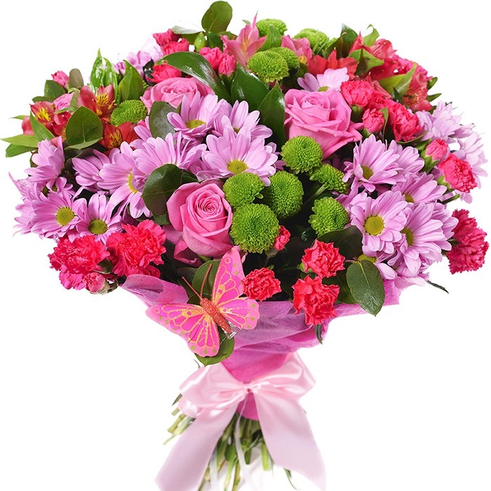 """Букет из роз и хризантем """"Тайное желание"""""""