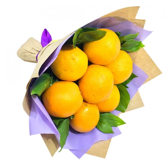 """Моно-букет из апельсинов """"Яркое солнце"""""""