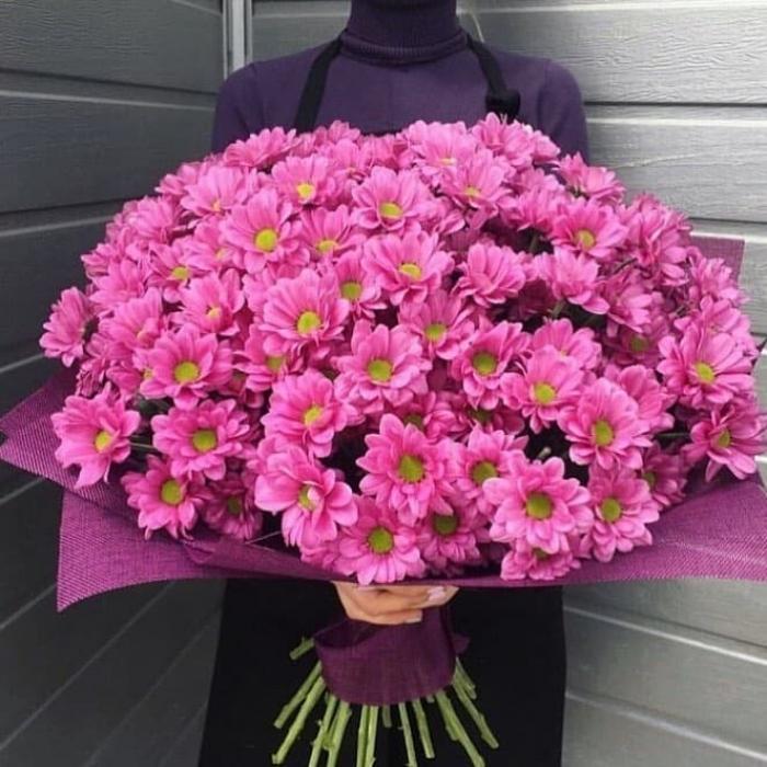 Букет из сиреневых хризантем Аленький цветочек