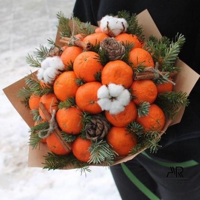 """Букет из мандаринок """"Новогоднее настроение"""" (Предзаказ)"""