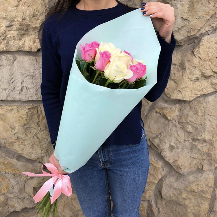 Букет Голубая мечта из 11 роз