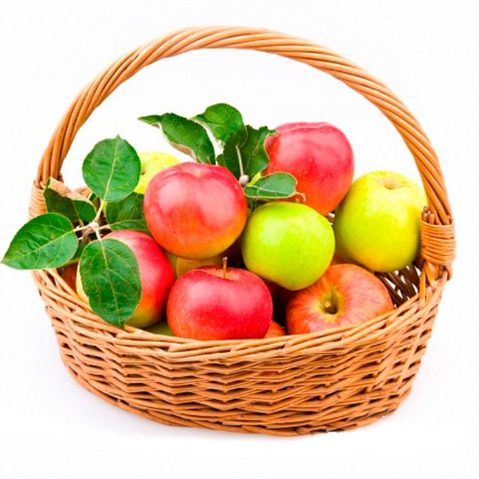 Корзина из яблок