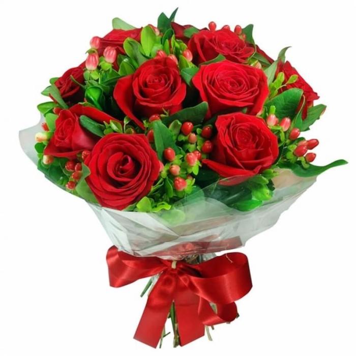"""Букет из красных роз """"Великолепие"""""""
