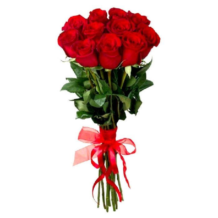 Акция!!! 11 больших красных роз 70 см + 4 бонуса