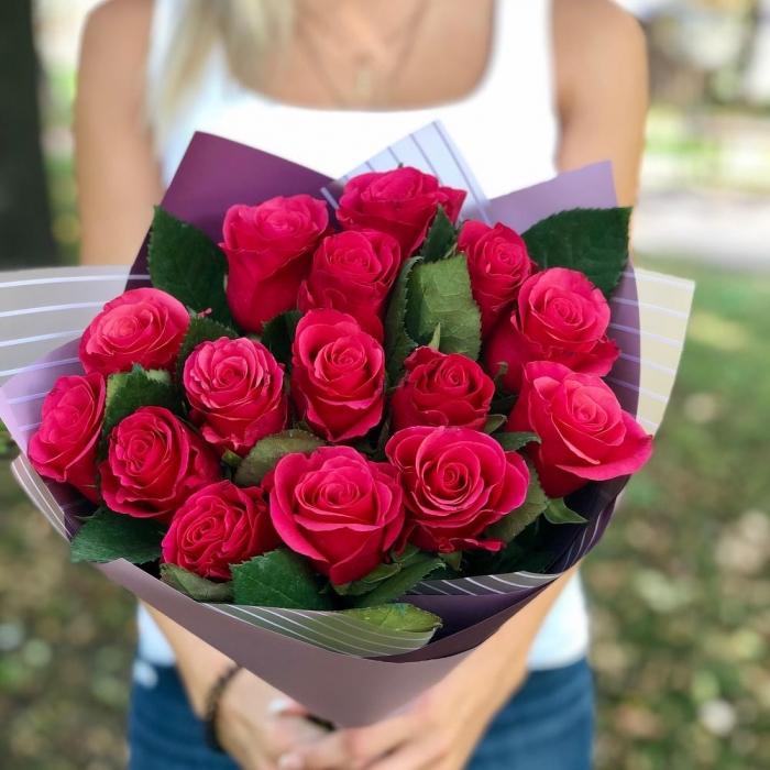 Букет из 15 Эквадорских роз Готча
