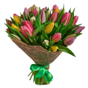 Букет из 15 тюльпанов+ Пряник