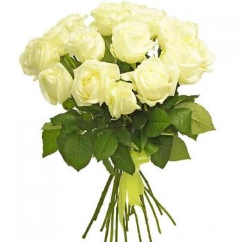 АКЦИЯ! 19 белых роз по супер-цене