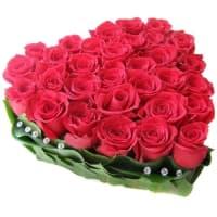 Композиция из 25 роз Сердце