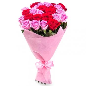 """Букет из 23 роз """"Сердце принцессы"""""""