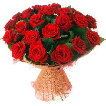 Букет из 25 роз Горячий