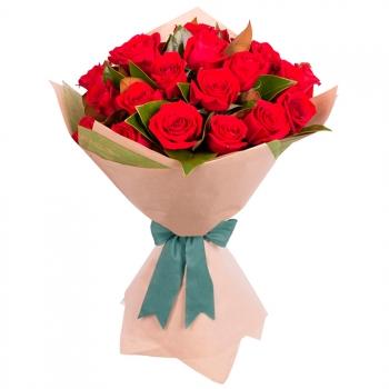 Букет Тайна из 21 красной розы 70 см