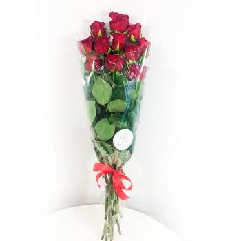 """Букет из 11 красных роз 70 см """"Классика"""""""