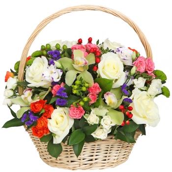 Цветочная корзина Весенне настроение