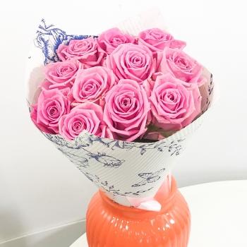 Букет из 11 роз Воздушный крем