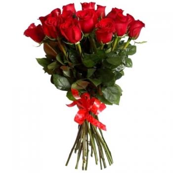 15 длинных роз 70 см