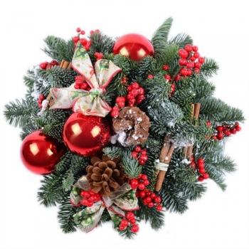 """Новогодняя композиция """"Счастливого праздника"""""""