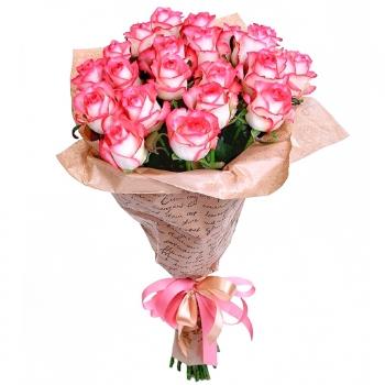Букет Клубничка из 25 роз