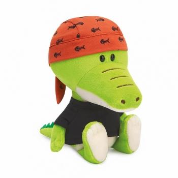 Крокодильчик Кики в черной футболке и бандане