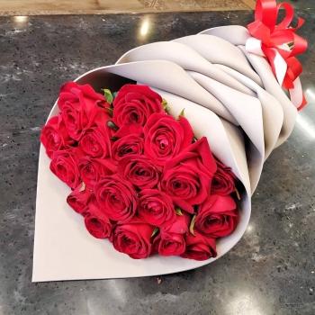 Акция!!! 19 красных роз 70 см