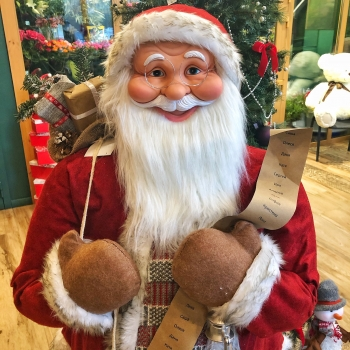 Новогодняя фигура Санта Клаус 1,6 м