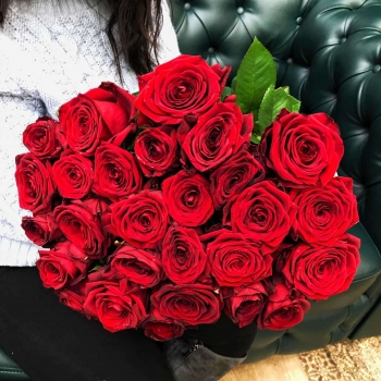 Подарочный набор «От сердца»  красные розы 50 см