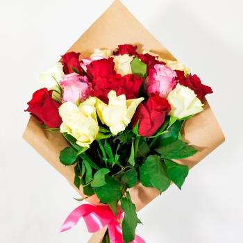 Букет из 17 Кенийских роз