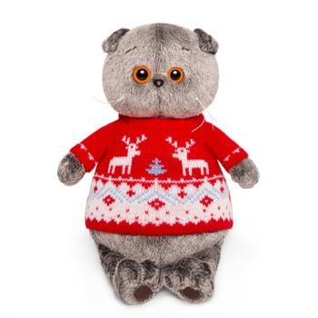 Кот Басик в свитере с оленями (Предзаказ)