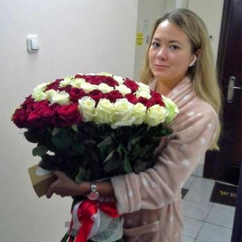 Букет из 101 розы Гипноз
